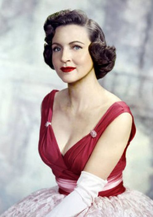 Betty White- She looked like my grandma when she was young.