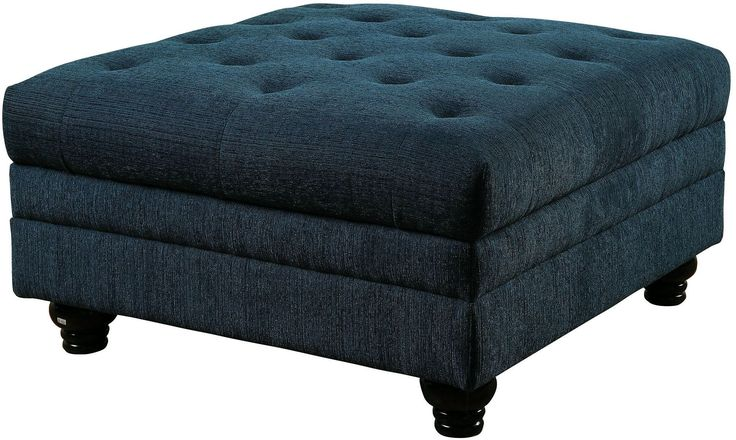 Stanford Ii Dark Teal Ottoman.......... Coleman Furniture