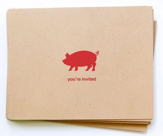 Pig Roast Party Invites!