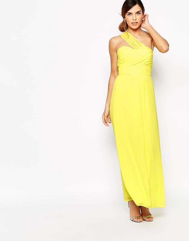 I Heart One Shouldered Dresses And Its Such A Sunny Colour Wedding Guest