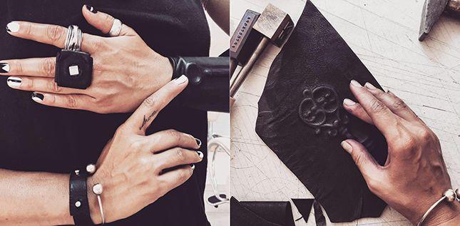 Zora Romanska #fuorisalone #din2016 #leather #bracelets #black #style #pinDin