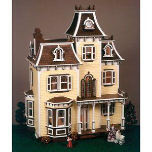 Large-Wooden-Doll-House-Vintage-Victorian-Kit-Wood-Dollhouse-DIY-Mansion-Girls