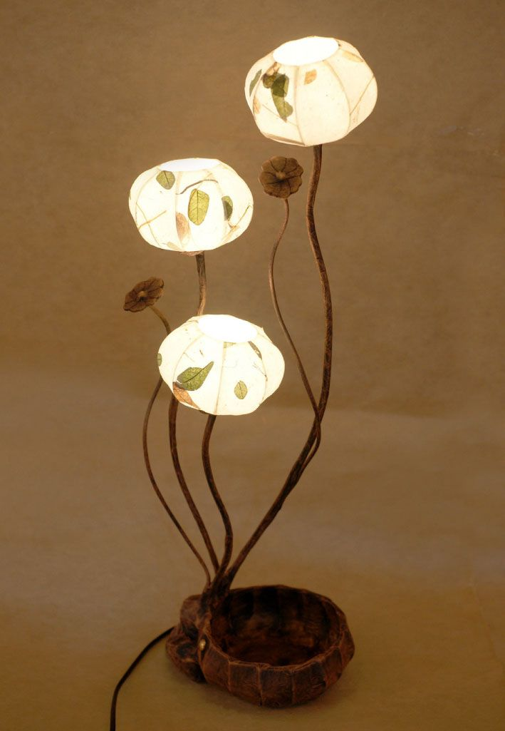 Paper #lamp  Shade with Three Leaf Design Lights