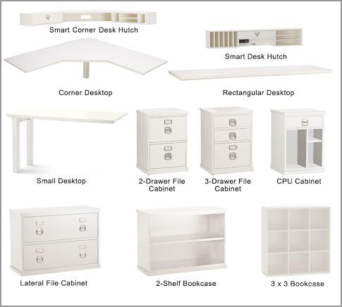 This is a good option for a desk with ample storage, and I like that you get to pick and choose