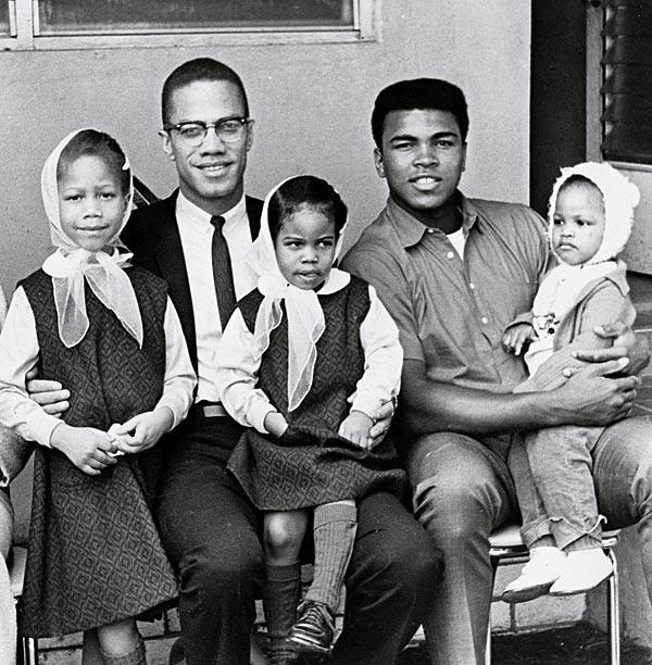 Malcolm X, Muhammad Ali and their kiddos.