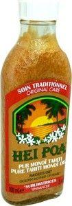 Le pur Monoï Nacres or Hei Poa, le secret de beauté venu de Polynésie pour sublimer la peau et les cheveux.