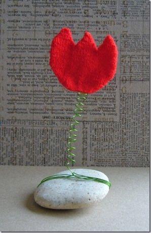 Knutselen met tulpen