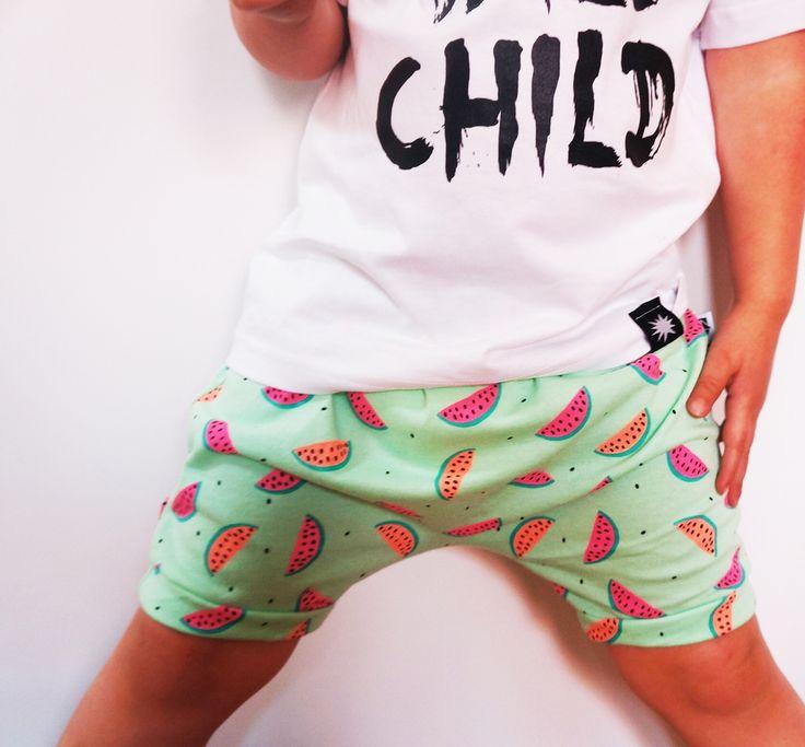 Image of Neon Watermelon Harem Shorts
