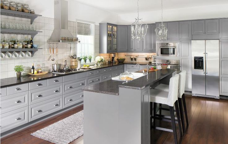 grey kitchen  Decor, Kitchens, Ikea Kitchen, Kitchen Design, Kitchen