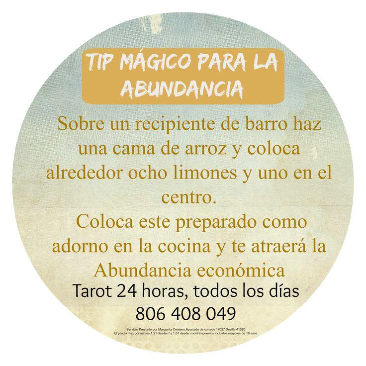 ~ Tarot y Rituales con Margui Centeno - Magia Blanca: Consejo mágico para atraer la abundancia.