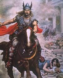 ARTICULO 3 - 14 – La historia escrita de los ostrogodos se inicia con la independencia del Imperio Huno, tras la muerte de Atila. Aliándose con sus antiguos vasallos y rivales, los gépidos, los ostrogodos - dirigidos por Teodomiro - logran vencer a las fuerzas hunas comandadas por los hijos de Atila en la batalla de Nedao en 454.