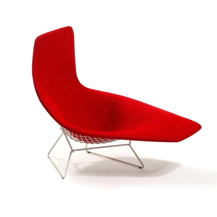 Bertoia / Knoll: Asymmetric Chaise With Full Cover