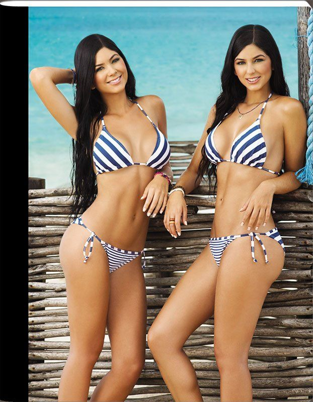 sexy twins in bikinis girls