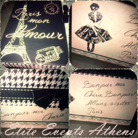 Parisian themed wedding, by Elite Events Athens .... Bonjour ma cherie, nous allons visiter Paris, avec Elite Events Athens... So happy, organizing the wedding of a lovely French couple...they chose our country to exchange their vows, how sweet is that?!