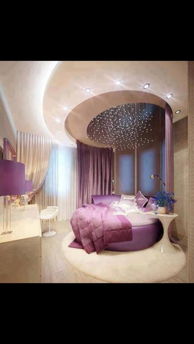 Wowwww circle bed  Dream home  Luxury bedroom design