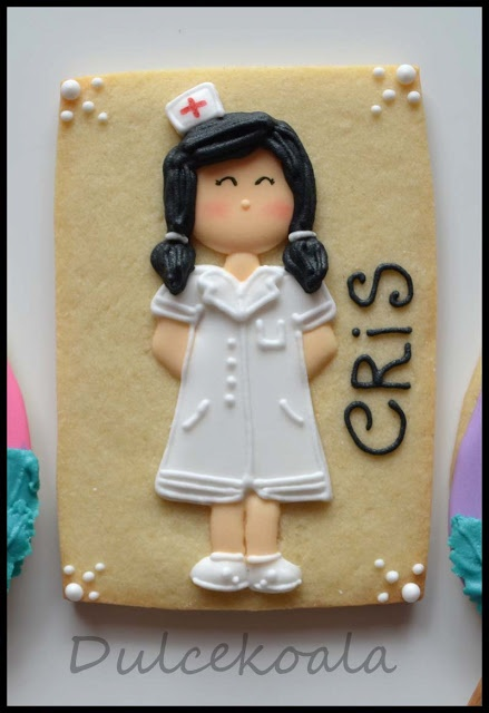 Galleta decorada enfermera