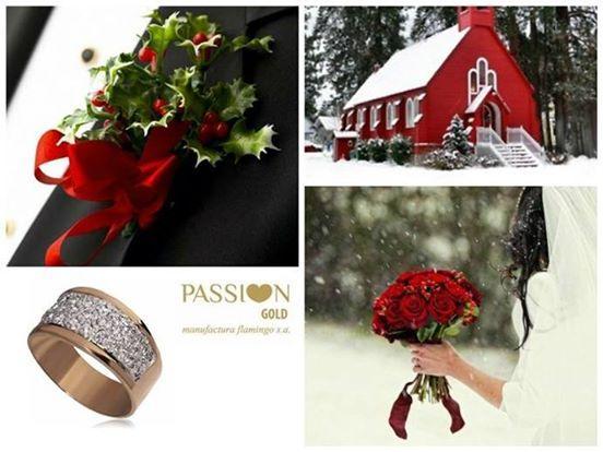 Sugestões para um casamento natalício!  Quem quer casar no Natal?  Alianças de casamento Passi♥n Gold