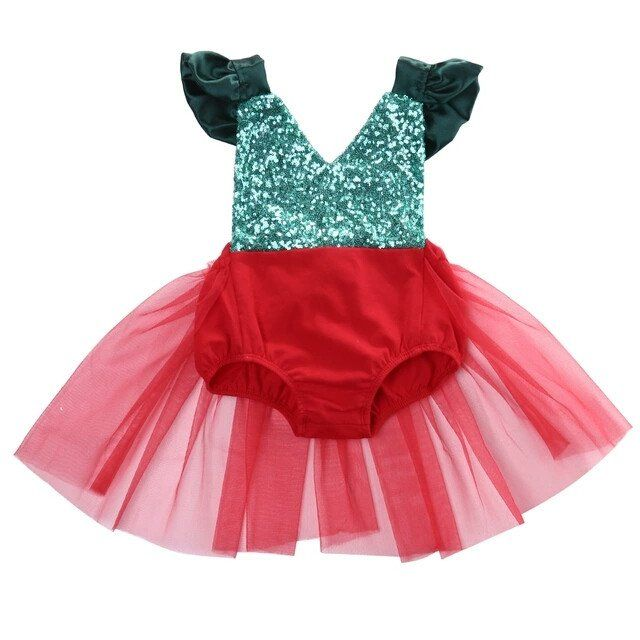 Christmas sparkle romper holiday rompers baby girl first birthday outfit cake smash Christmas outfit green and red romper sequin romper holiday pictures baby outfit