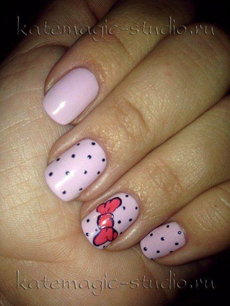 розовые ногти фото с рисунком
