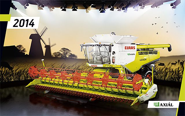 Creatum made the 2014 calendar for Axial Ltd, the market leader of agricultural machines in Hungary. Click for more fantastic pages. :)