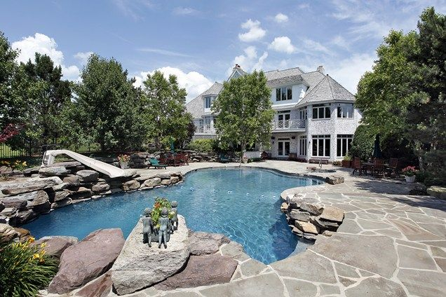 Boulders Around Pool Awesome Stone Pool Deck Swimming Pool Boulders Swimming Pool Landscaping