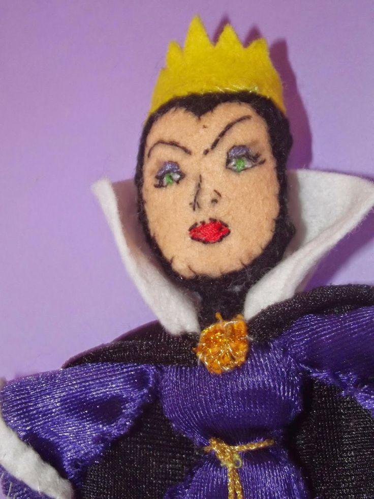 ElLu Dolls: Muñeca de fieltro Bruja Blancanieves Películas Disney. Snow White