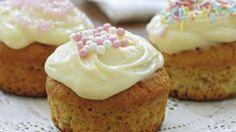 Opskrift på muffins med marcipan