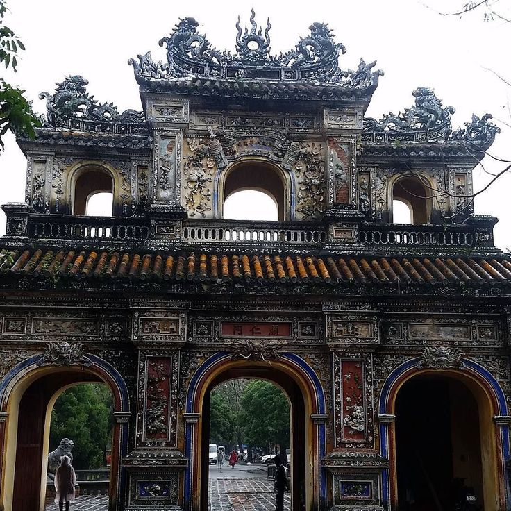 One of the Gates at the Imperial City in Hue Vietnam