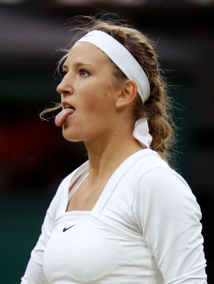 Victoria Azarenka of Belarus celebrates winning her third round match against Daniela Hantuchova of Slovakia on Day Five of the Wimbledon Lawn Tennis Championships at the All England Lawn Tennis and Croquet Club on June 24, 2011 in London, England.