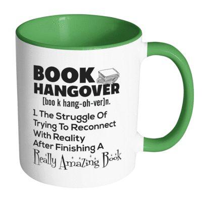 Book Hangover Accent Mug via awesomelibrarians.com