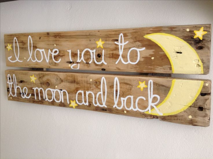 I always say this to the boys :) Pallet sign