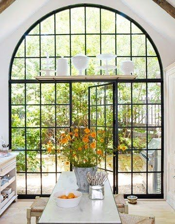 LOVE the window in this kitchen