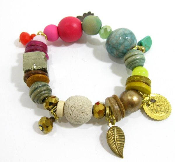 Tropical Tribal Charm Bracelet