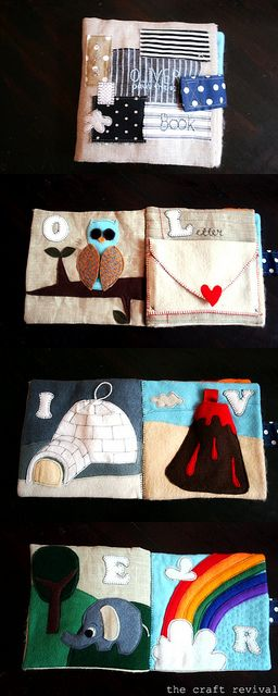Felt and linen quiet book / busy book for little ones