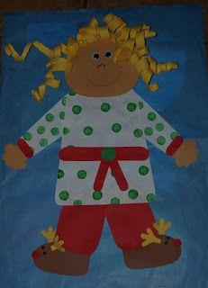 Pajama Glyph.  Gingerbread Fun and Freebies