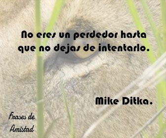 Frases de animo y fuerza de Mike Ditka.