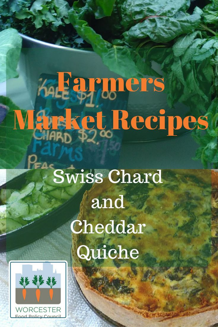 Swiss chard and cheddar quiche farmers market recipes collection swiss