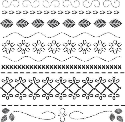 17 mejores ideas sobre patrones para bordar en pinterest - Plantillas cenefas para pintar ...