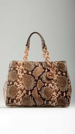 Python embossed leather Cynthia bag