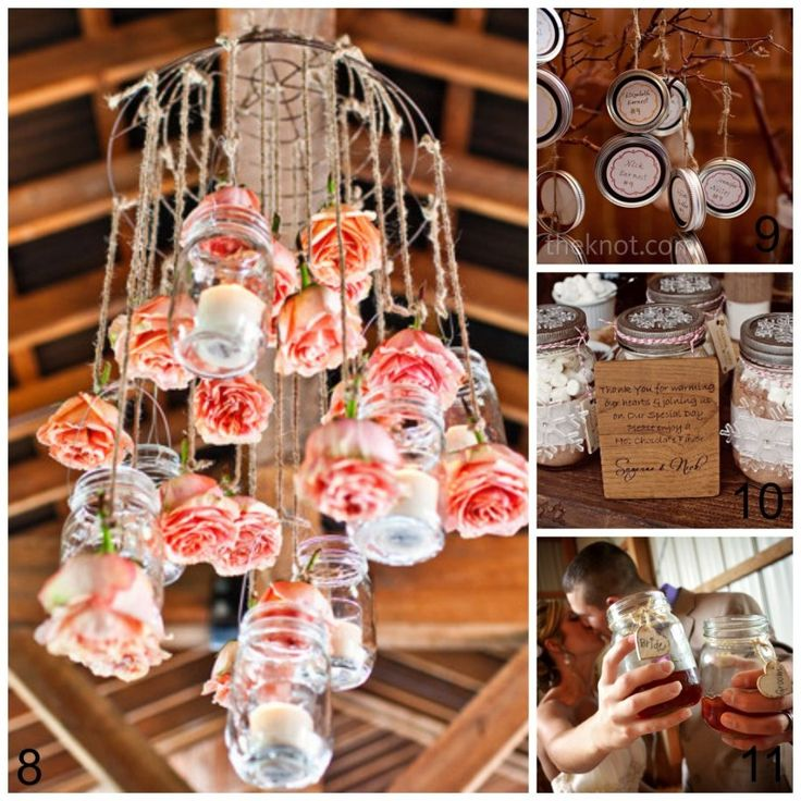 15 Mason Jar Wedding Ideas - Upcycled Treasures