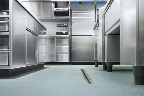 Slip resistant commercial kitchen flooring from Altro