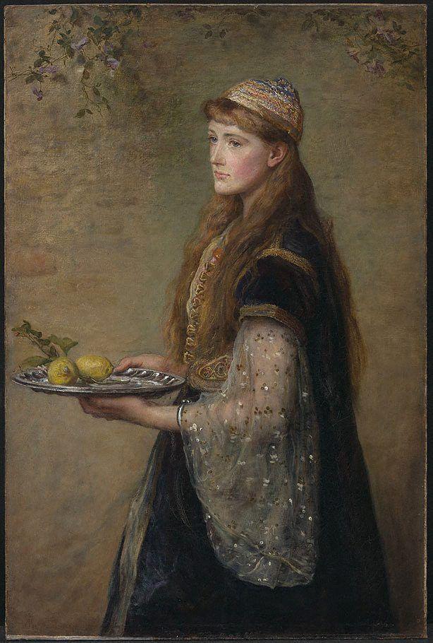 An image of The captive by Sir John Everett #Millais