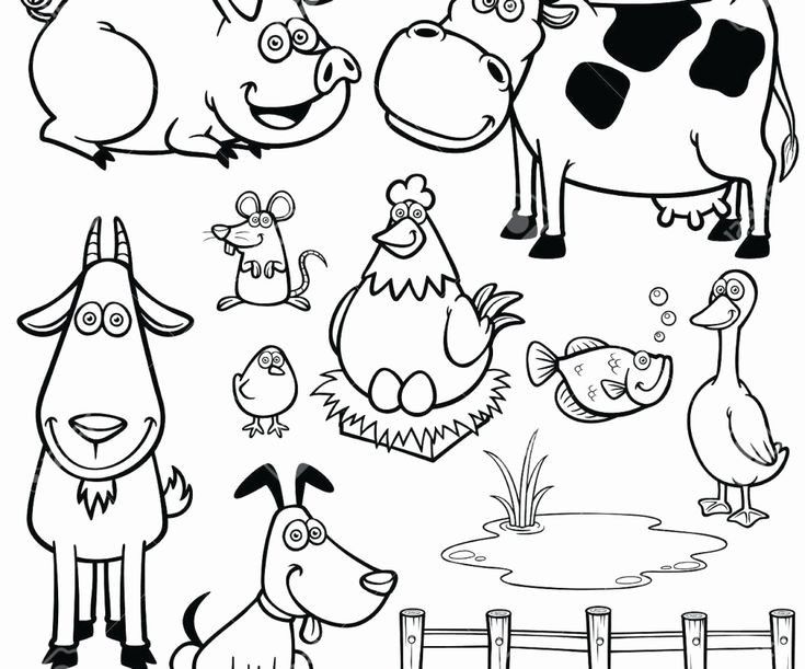 Cartoon Jungle Animals Coloring Pages Farm Animal Coloring Pages Cartoon Jungle Animals Easy Animal Drawings