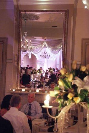 A stunning wedding reception setting