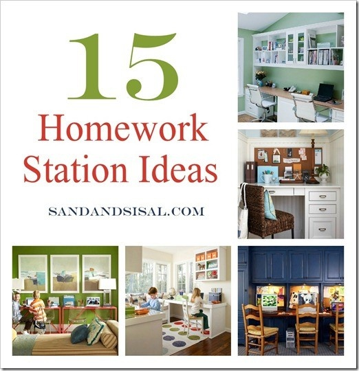 Homework Station - doing this for the kids and putting it in our basement