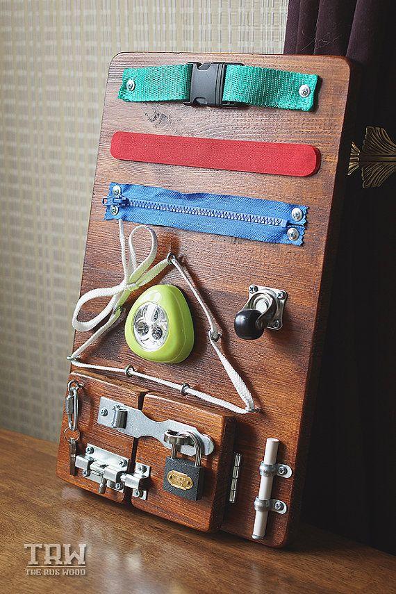 Busy Board, Wooden toys, Activity Board, Sensory Board, Montessori educational…