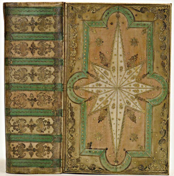 Amsterdamse boekband in beschilderd en met goud bestempeld perkament, ca.