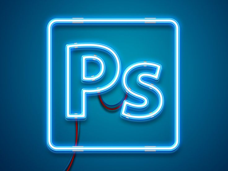 how to create neon text in ps cc 2018