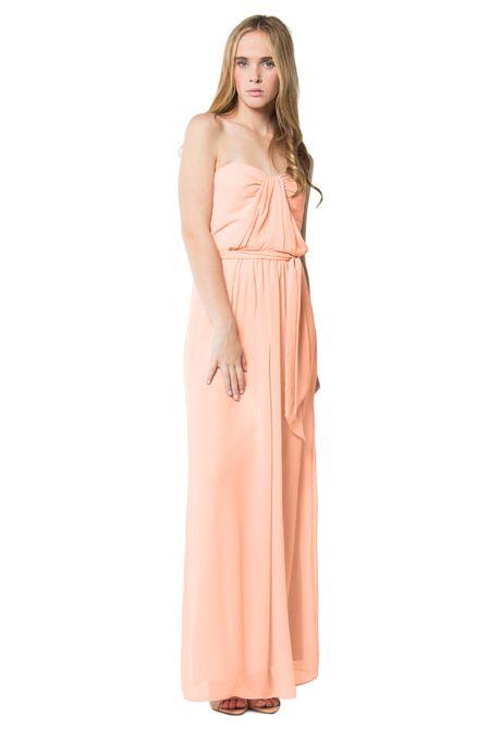 "Brides: Swoon. ""Martinique"" chiffon bridesmaid dress, $265, Swoon available at Weddington Way"