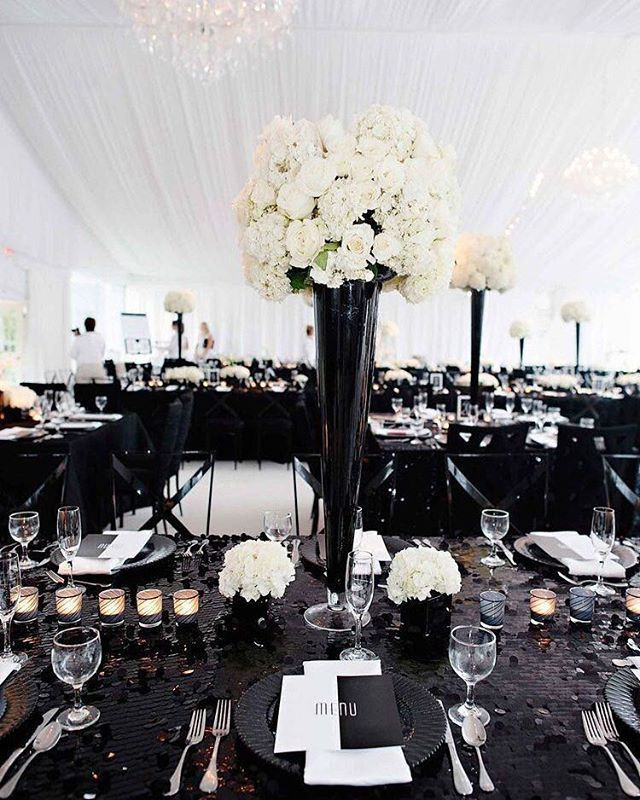 black white purple wedding reception%0A Black and white wedding